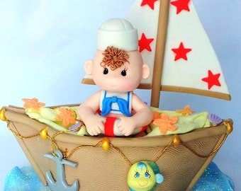 Nautical Birthday, Sailor Baby Shower, Sailor Cake Topper, Sailor Birthday,  Nautical Baby, Nautical Baby Shower, Cake Topper, Girls Nautical