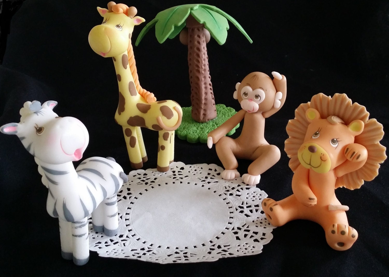 Jungle cake toppers safari baby animals safari animals cake for Animal cake decoration