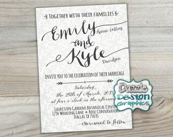 Printable Wedding Invitation | Casual Invite | Bridal Brunch, Couples  Shower | #506 Digital