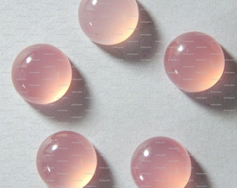 10-p Wholesale Lot Pink Chalcedony 10x10 mm Round Calibrated Gemstone Cabochon