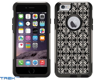 Apple iPhone 6 Plus Otterbox Commuter Victorian Damask Case (1486)