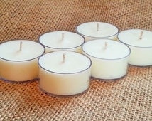Soy Tea Light Candles, Unscented, Soy Candles for Sale, Hand Poured Tealights, Handmade Candles, Soy Tealights