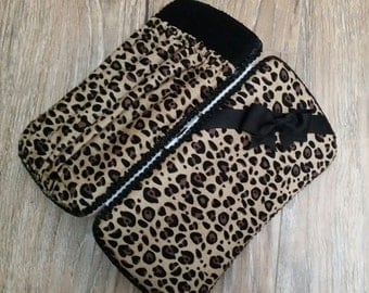 Cheetah Baby Travel Wipe Case - Baby Wipes Case - Wipe Case - Wipe Case with Pocket - Diaper Clutch - Cheetah Wipe Case