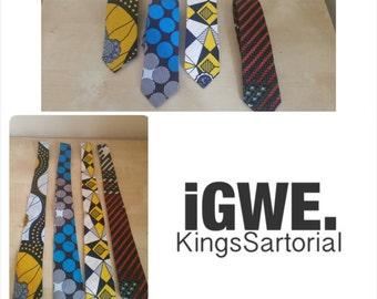 Boys Ankara /African Wax Print necktie