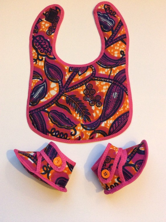 Baby Gift Sets South Africa : Ankara baby bib set shower gift african