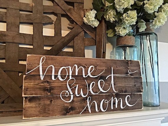 Https Www Etsy Com Listing 224025491 Home Decor Hand Painted Wood Sign Rustic