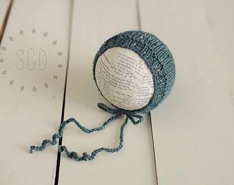 Newborn Tweed Bonnet