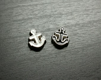 Anchor Floating Charm for Floating Lockets-Black or White-Gift Ideas for Women