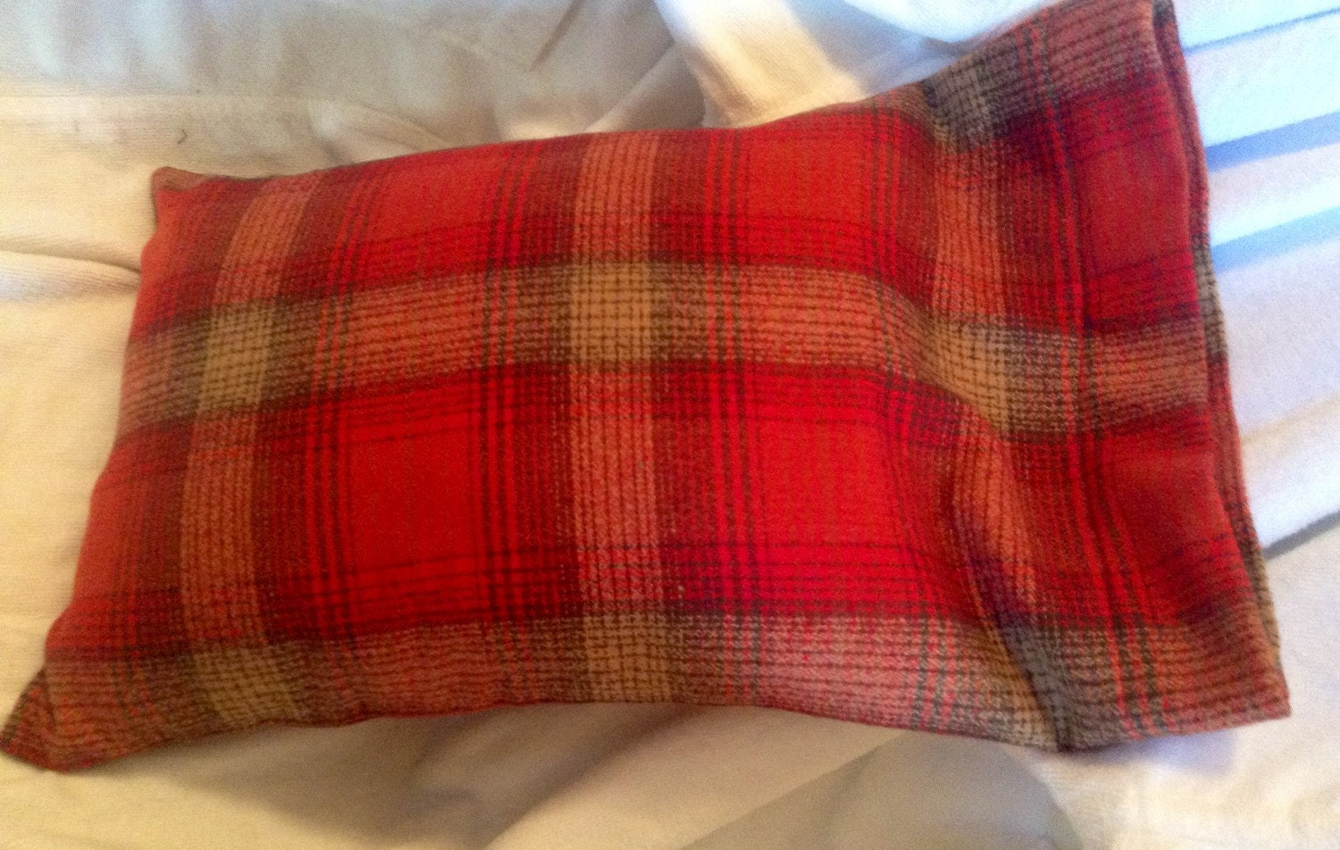 Red Plaid Flannel Travel Pillowcase Toddler By