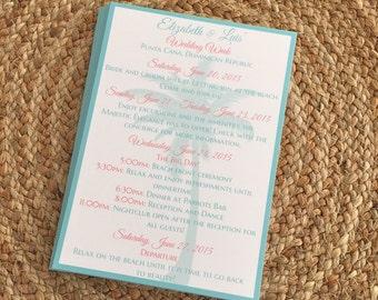 Destination Wedding Itinerary, Beach Wedding Itinerary, Wedding Itinerary, Beach Wedding, Beach Theme Itinerary, Wedding Weekend Itinerary