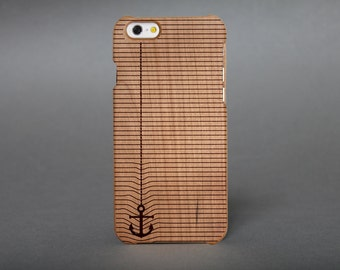 Hull wooden box engraved for iPhone 6 - anchor