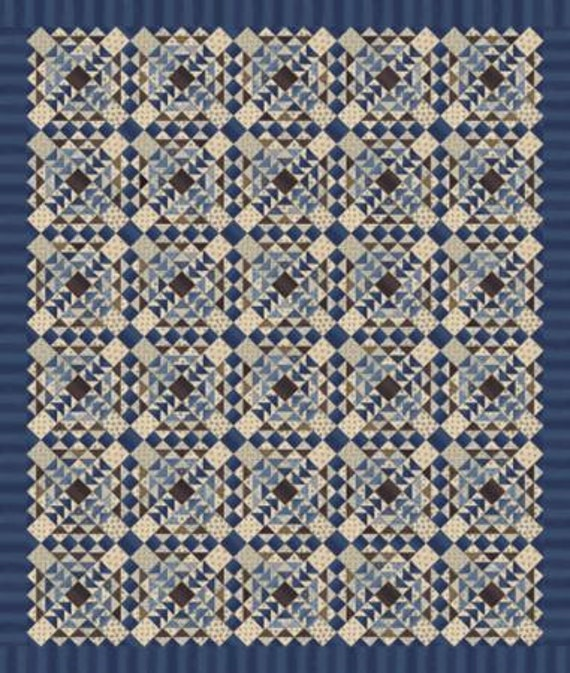 Union Blues Quilt Kit Featuring Union Blues By Barbara