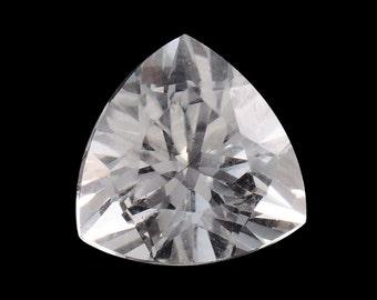 White Topaz Trillion Cut Loose Gemstone 1A Quality 7mm TGW 1.25 cts.