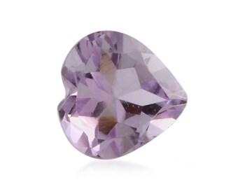 Pink Amethyst Heart Cut Loose Gemstone 1A Quality 8mm TGW 1.25 cts.