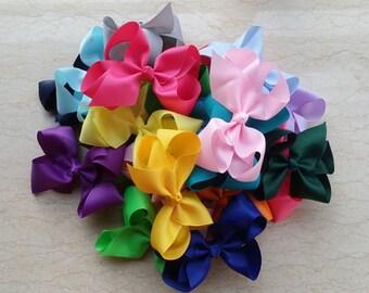 10% off! set of 50 pcs 6 inch big bows,hair bows for girls,baby girls hair bows,large hair bow, baby bow, teens hair bow,classic hair bows Q