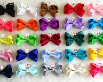 set of 15 pcs 3 inch hair bows for infant, baby girls hair bows, small hair bow , bow girl hair, baby bow,hairbows,hairbow, R