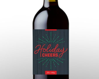 Holiday Wine Label - Holiday Cheers