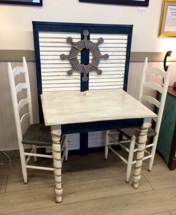 Items Similar To Handmade Upcycled Shutter Kitchen Table