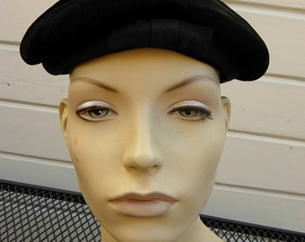 Gorgeous Black Velour 1930s Hat