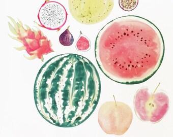 Inside Out Fruit Art Print