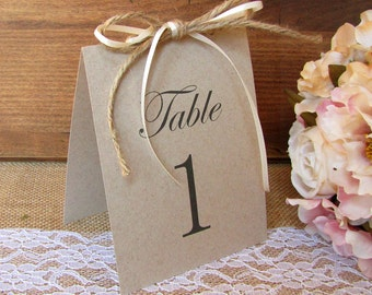 Rustic table numbers - Table numbers wedding - Rustic wedding table numbers - Wedding table number - Reception table numbers - Table numbers