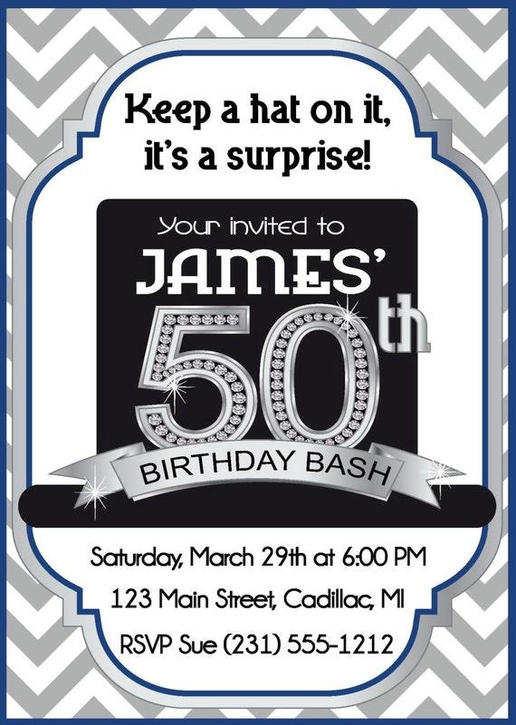 surprise 50th invitation men s 50th birthday invitation by