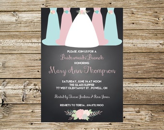 Bridesmaids Dresses Bridal Lunch invitation