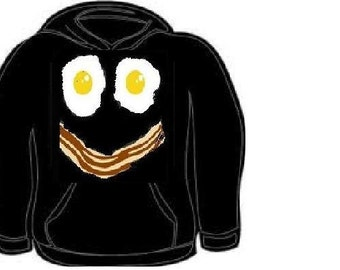 hoodie: bacon n eggs  hoodies bacons egg funny cool  funny face bacon