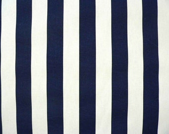 Upholstery Fabric, Drapery Fabric, Navy Blue/White Stripe Fabric, Baby Fabric, Kids Fabric, Circus/Home Deco/Nursery/Quilt/Diy/Sewing Supply