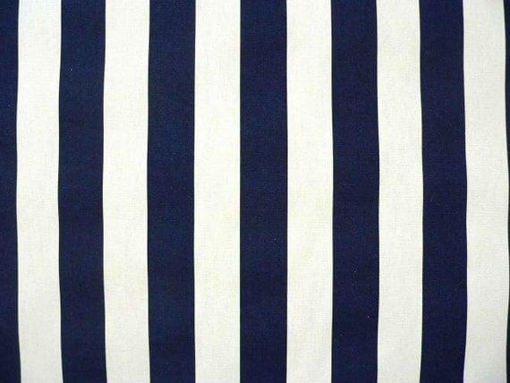 Drapery Fabric Navy Blue/White Stripe Fabric Baby Fabric