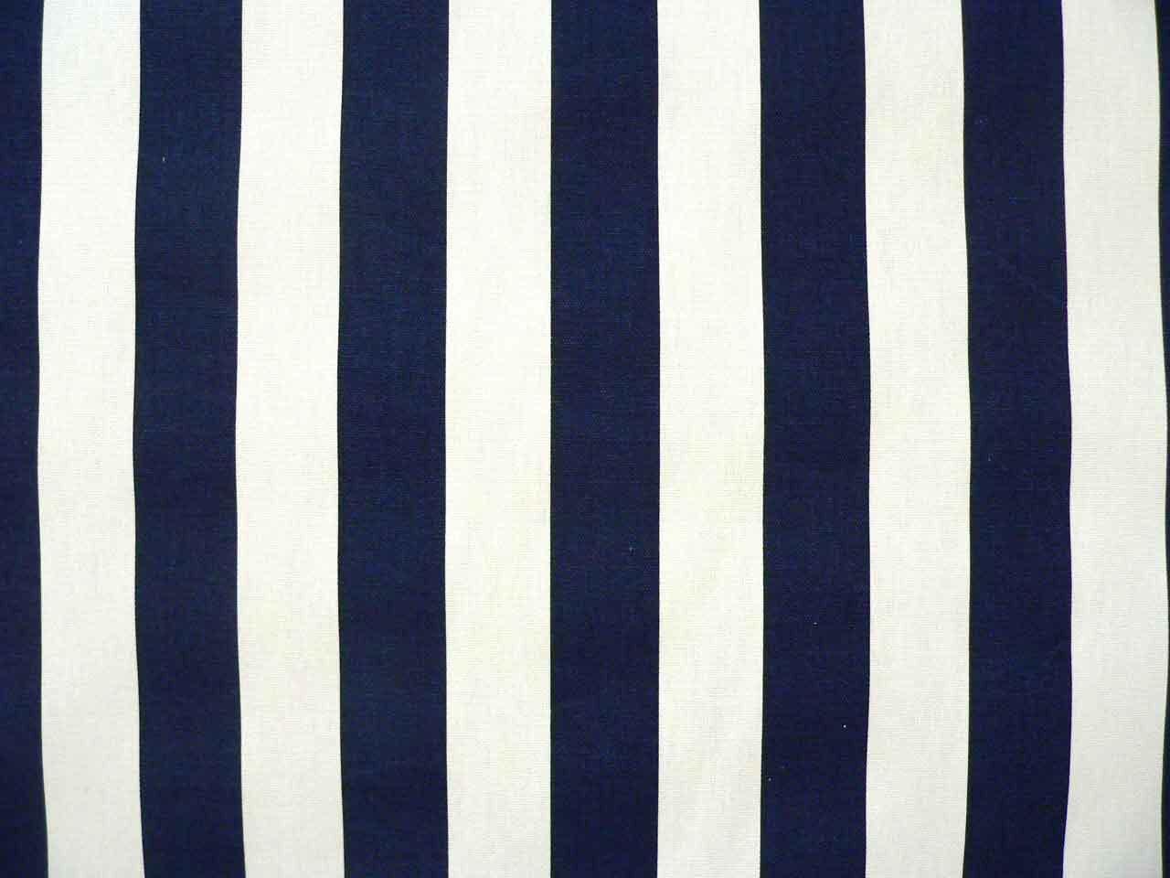 Upholstery fabric drapery fabric navy blue white stripe for Upholstery fabric children