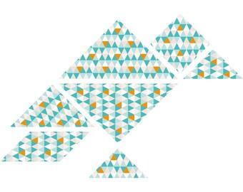 DIY tangram wall decal Twan