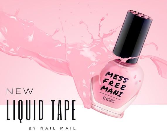 Liquid Tape Nail Polish: Mess Free Mani Liquid Nail Tape Liquid Nail By NailStencils