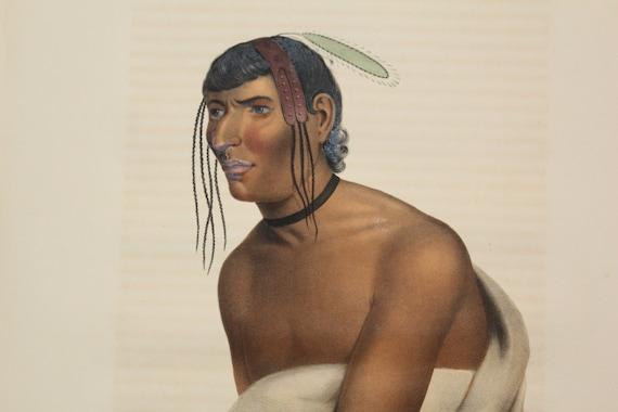 1843 Original Folio McKenney and Hall Jackopa Jack O Pa Chippewa Chief