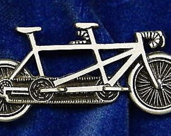 Tandem Bike Pin Cap Pin Made of Pewter Custom Made in the USA