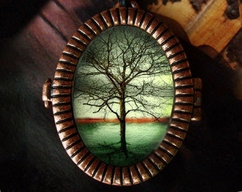 Oval Tree Locket