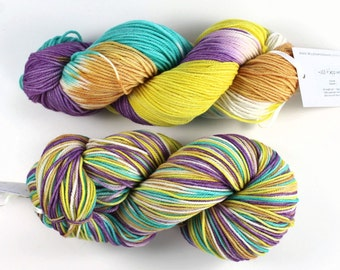 Superwash Merino yarn - Hand-dyed - DK weight - 100gr/~200m - '+100 Happiness'