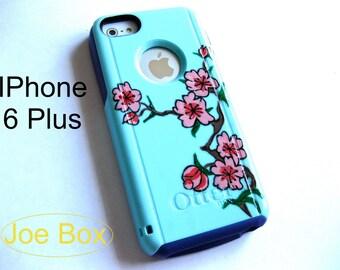 otterbox commuter iphone 6plus case, case cover iphone 6plus otterbox ,glitter otterbox case,otterbox iPhone6plus,gift, flower otterbox case