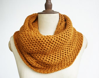 Mustard infinity scarf