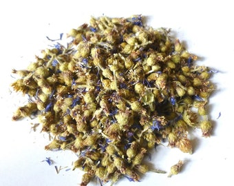 Organic dried CORNFLOWER flowers 1 oz/ harvested in Bakhchisarai (Russia), in a mountainous area in 2015 1 oz/ 30 g.