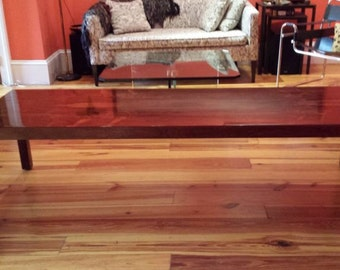 Milo Baughman for Directional rosewood parsons coffee table circa 1965, very rare