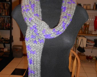 Chuncky cotton/wool blend scarf