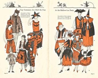 Vintage Halloween Dennison's Bogie Book party costumes digital download printable image 300 dpi