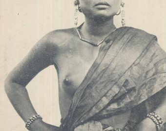 Antique Postcard - Laotian Woman