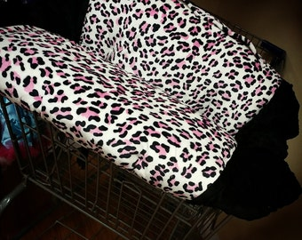 Pink, Cheetah, Leopard, Shopping Cart Cover. Several colors to choose from