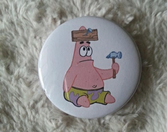 Patrick Star Pin Back Button