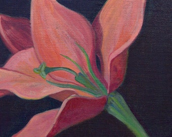 """Original Acrylic Painting of a Flower on Canvas 