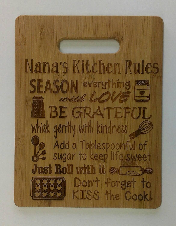 Personalized Cutting Board Bamboo Cutting Board Nana\'s