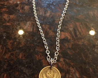 Soviet Union 10 kopiyok coin necklace