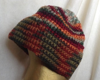 Handmade Crocheted Multicolored Hat
